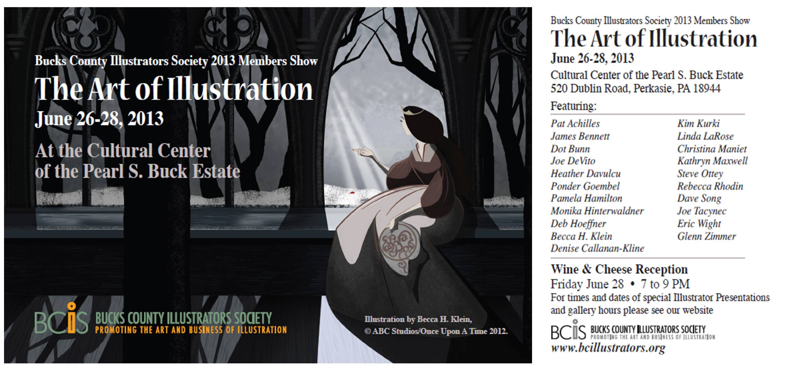 The bcis 2013 member show the art of illustration for Craft shows in bucks county pa